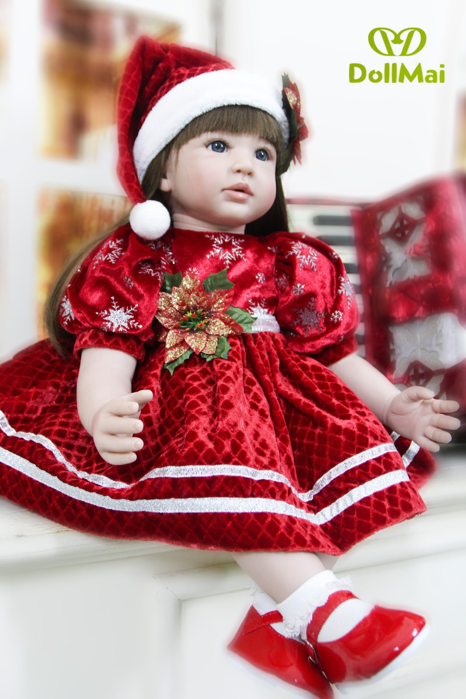 60cm Silicone Reborn Baby Doll Toys For Children Girls Bonecas 24inch Princess Babies Vinyl Toddler princess doll Present60cm Silicone Reborn Baby Doll Toys For Children Girls Bonecas 24inch Princess Babies Vinyl Toddler princess doll Present