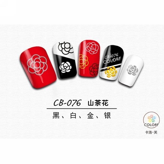 Super Thin Self Adhesive 3d Nail Art Nail Slider Sticker Gold Silver