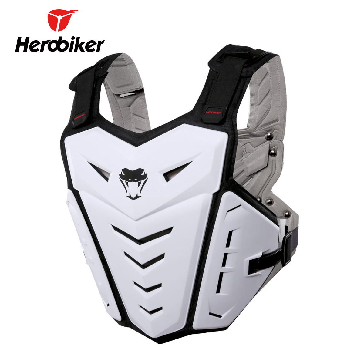 HEROBIKER Motorcycle Armor Motorcycle Vest Motocross Moto Vest Men Women Back Chest Protector Guards Body Armor Protective Gear herobiker armor removable neck protection guards riding skating motorcycle racing protective gear full body armor protectors