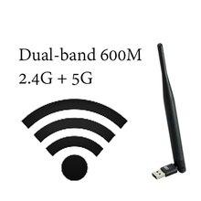 USB Wireless Dualband Wifi Dongle Adapter von 600 Mt 2,4G + 5G Mini Netzwerk 2,4G/5 Ghz AC600 Netzwerkkarte Wifi Dongle Adapter