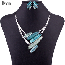MS1504649 Fashion 6 Colors Jewelry Sets High Quality Necklace Sets For Women Jewelry Multicolored Resin Unique Design Party Gift