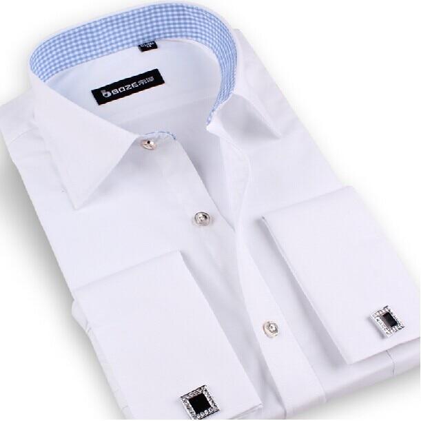 Men shirt striped french cuff cufflinks mens dress shirts for Cufflinks on regular dress shirt