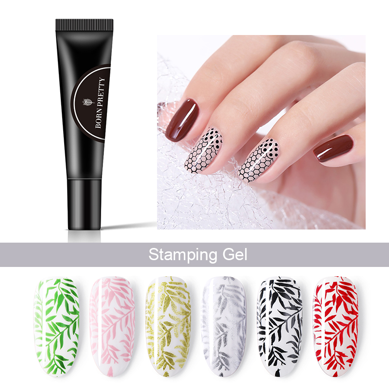 Born Pretty Nail Stamping Nail Gel Polish 8ml Pure Color