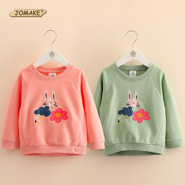 Spring Baby Girl Tops & Tees Girls Cute Bunny Sweatshirt Kids Rabbit Print Autumn T-shirts Long Sleeves Children Clothing Enfant