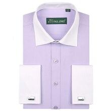 Мужские рубашки-смокинги, лоскутные, контрастные цвета, дизайнерские, французский стиль, официальные рубашки для свадьбы/вечерние, с красивыми запонками