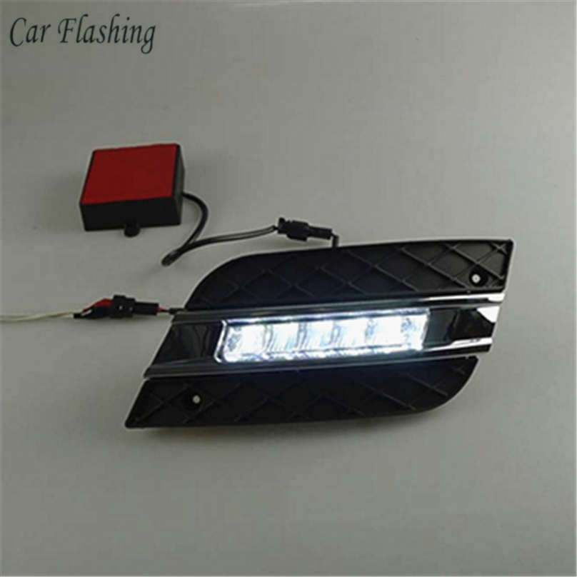Car Flashing For Mercedes Benz ML350 W164 ML280 ML300 ML320 2010 2011 LED DRL Daytime Running