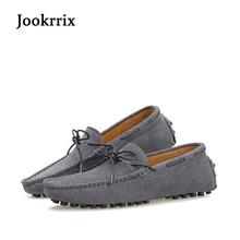 Jookrrix осень 2017 г. мужская повседневная обувь для вождения для отдыха Мокасины натуральная кожа универсальные удобные мягкие дышащие Мокасины серый