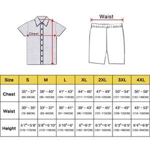 Image 2 - Męska jedwabna satynowa piżama piżama piżama krótki komplet bielizna nocna Loungewear U.S.S, M, L, XL, 2XL, 3XL, 4XL Solid _ _ 6 kolorów