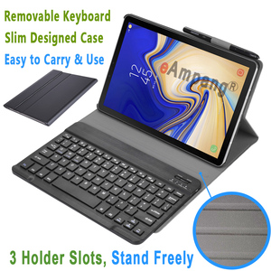 Image 4 - Russian Spanish English Keyboard for Samsung Galaxy Tab A 10.5 2018 Keyboard Case T590 T595 SM T590 SM T595 Leather Cover Funda