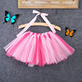 0-8Y Summer style girl skirt baby kids children tutu skirt short rainbow skirts