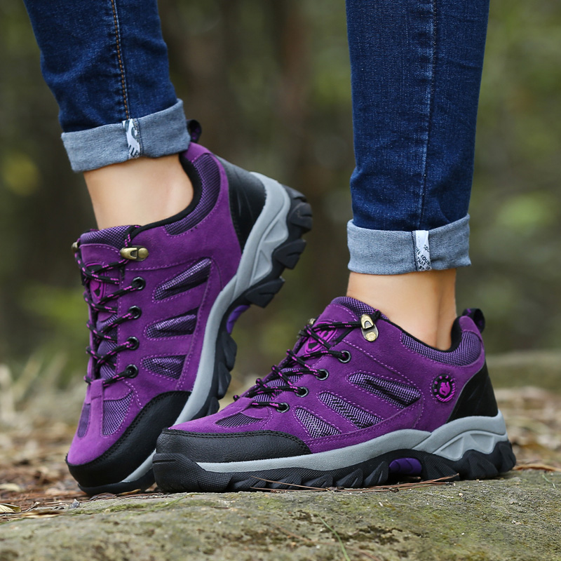 Hot Outdoor Men Waterproof Hiking Shoes Breathable Hiking Boots For Women Sport Waterproof Trekking Mountain Climbing Shoes 2017 new men hiking shoes non slip waterproof women trek climbing shoes outdoor breathable mountain trial lover trekking shoes
