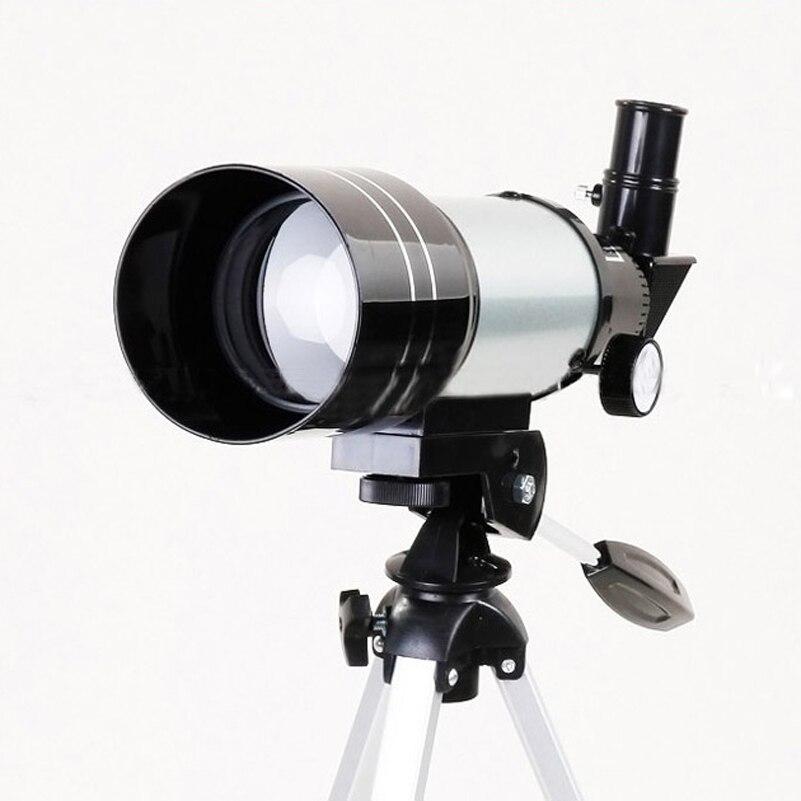 Trépied Barlow Lentille Oculaire Lune Filtre Avec Professionnel Astronomique Monoculaire Télescope F30070M Argent Pour Astronomique Espace