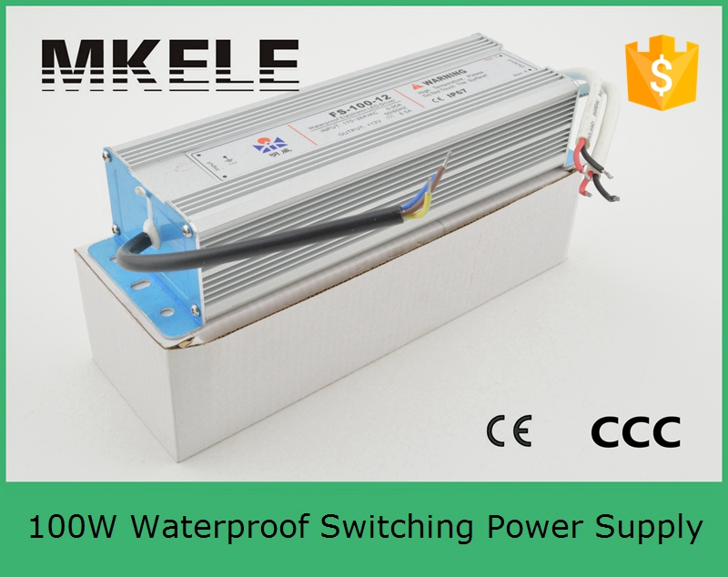ФОТО high quality FS-100-5 20A led power supply 100w professional waterproof IP67 switching power supply with ac 220v input