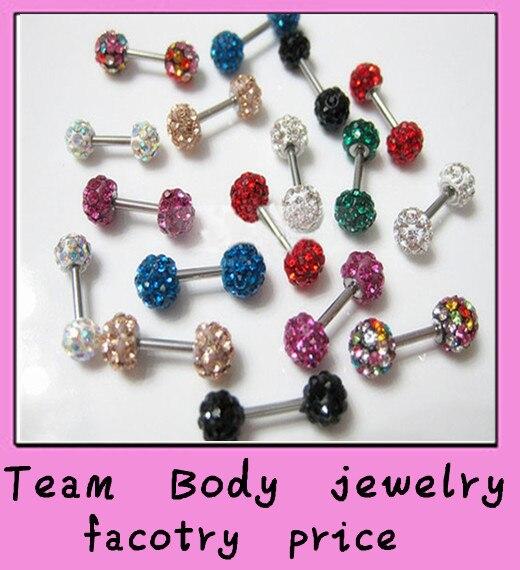 straight ear stud mix 10 colors 10pcs/lot free shipping ferido shambhalla earing piercing jewelry tragus barbell ear ring