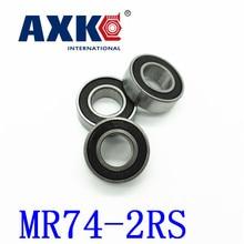 Axk Free Shipping High Quality 10pcs Mr74-2rs Abec-5 4*7*2.5 Mm Miniature Ball Bearings Mr74rs L740