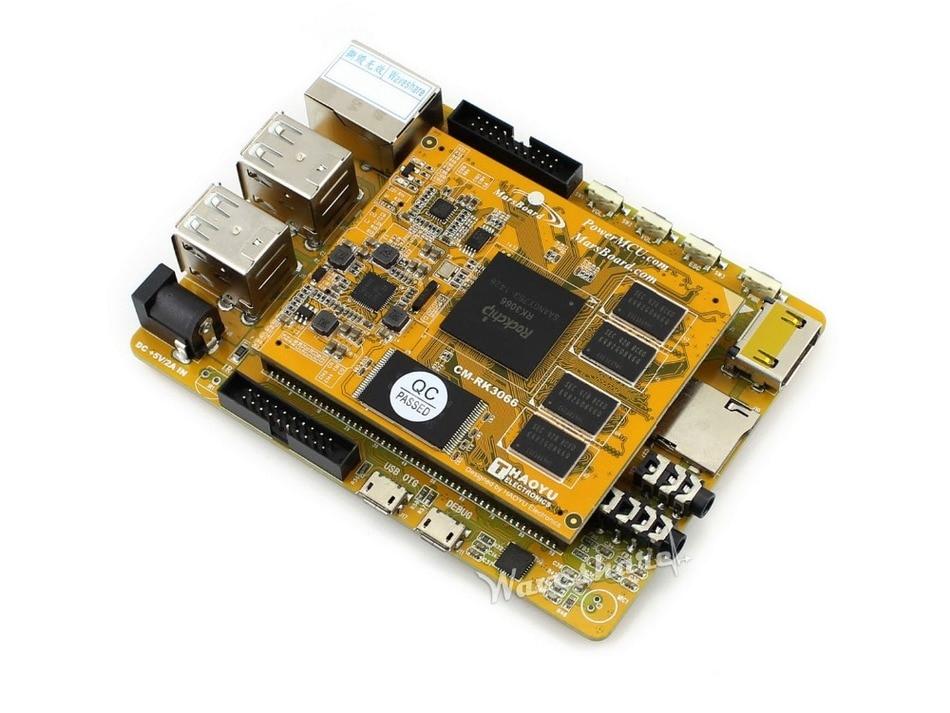 ФОТО 100% Original Mars Marsboard RK3066 Quad core Mali-400 MP GPU, Super Raspberries Dual core ARM Cortex A9 Development Board Kit