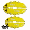 4 pcs (M + S) Universal Brake Caliper Covers Dianteira E Traseira Do Carro Auto plástico ABS amarelo
