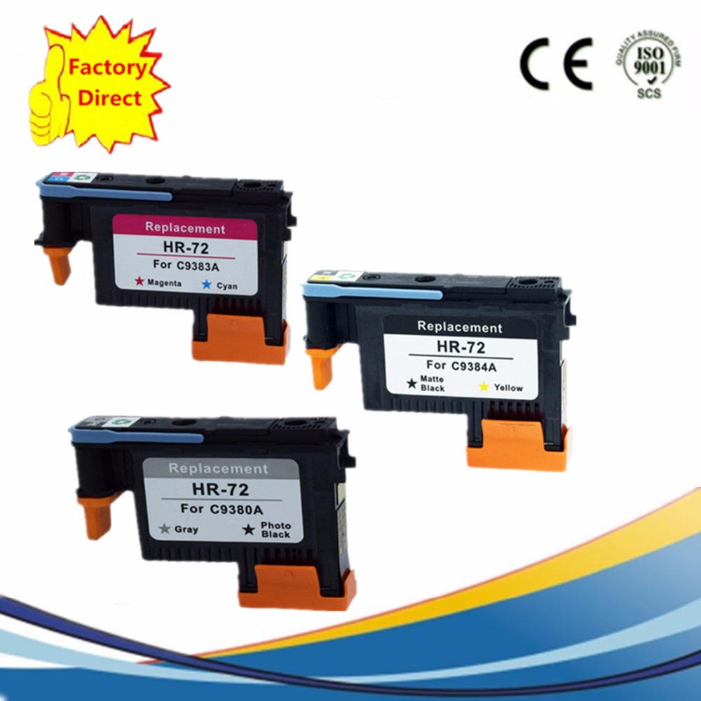 C9380A C9383A C9384A Printhead Print head for HP 72 DesignJet T1100 T1120 T1120ps T1200 T1300 T1300ps T2300 T610 T770 T790 T795 печатающая галовка hp 72 c9380a серая и фото черная c9380a