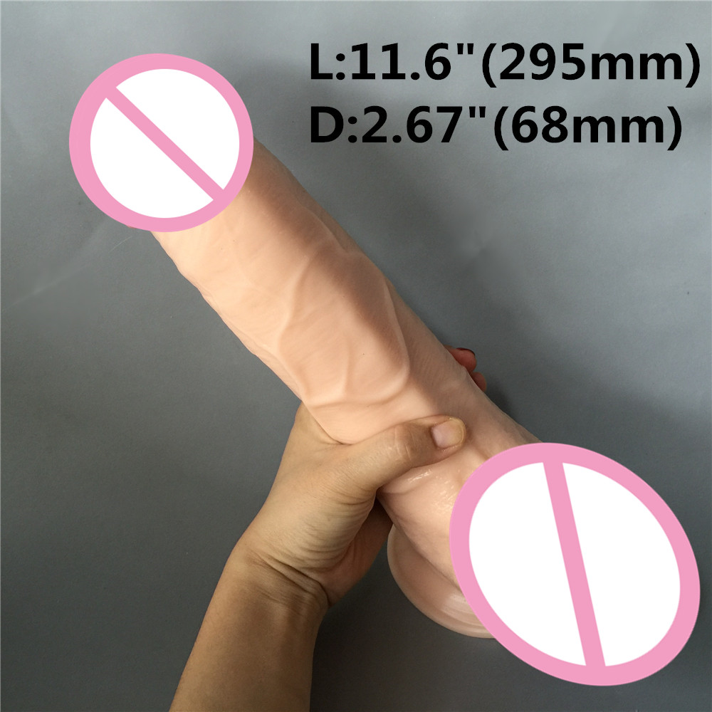 11.6 inch (295mm) super Big Realistic Silicone Dildo Super Thick Huge Dildos Sturdy Suction Cup Penis Dick for Women Horse Dildo
