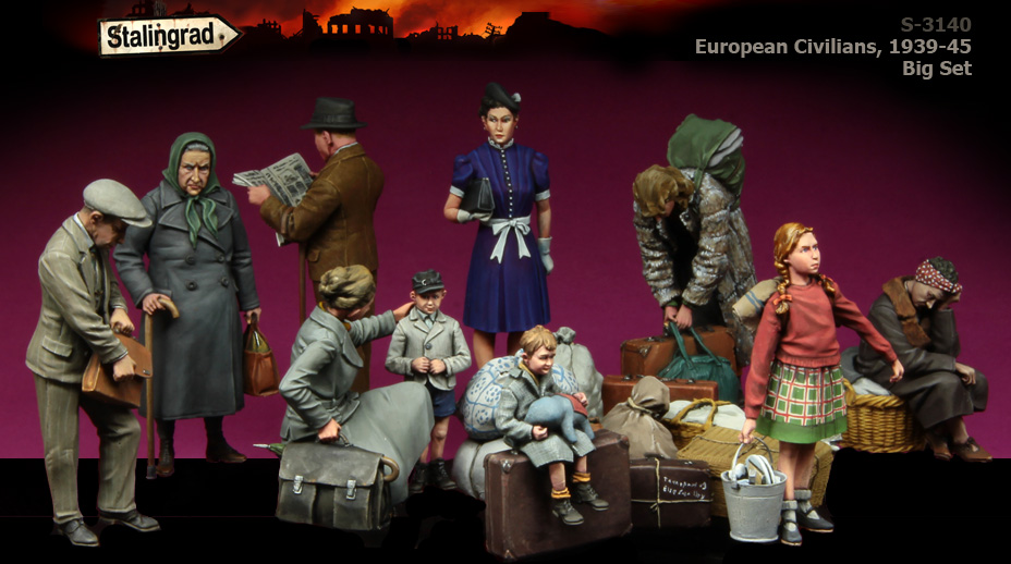 Resin Kits 1/ 35 WWII European Civilians 1939-45 figure Resin Not color Model figure DIY TOYS new WWII WW2 scale models 1 16 120mm soviet soldier ww2 120mm figure historical wwii resin model free shipping