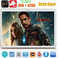 Tablet pc10 дюймовый 3 Г 4 Г LTE Окта основные 4 ГБ RAM 32 ГБ ROM Phablet Android 5.1 IPS GPS wi-fi 5.0MP 10.1 MID DHL бесплатно