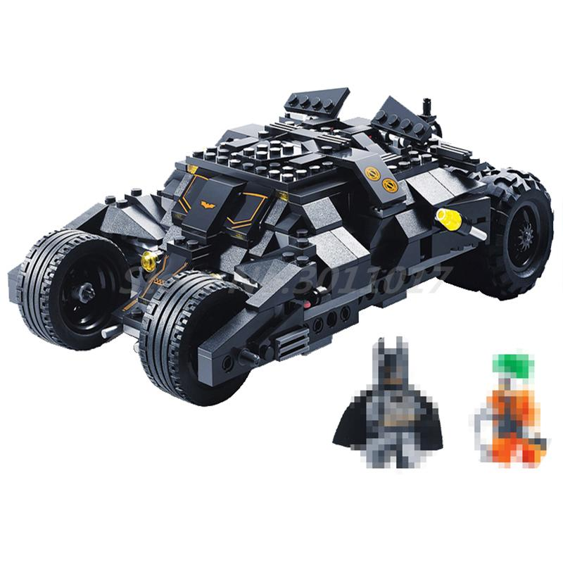 Decool 7105 Superheros DC Batmobile Car Batman Joker Figure Building Block Brick Eductional Toy Kids Gifts Compatible 7888 batman tumbler bat pot 7105 batmobile joker superman 7115 model building block kit bricks boy compatiable legoes kit gift set