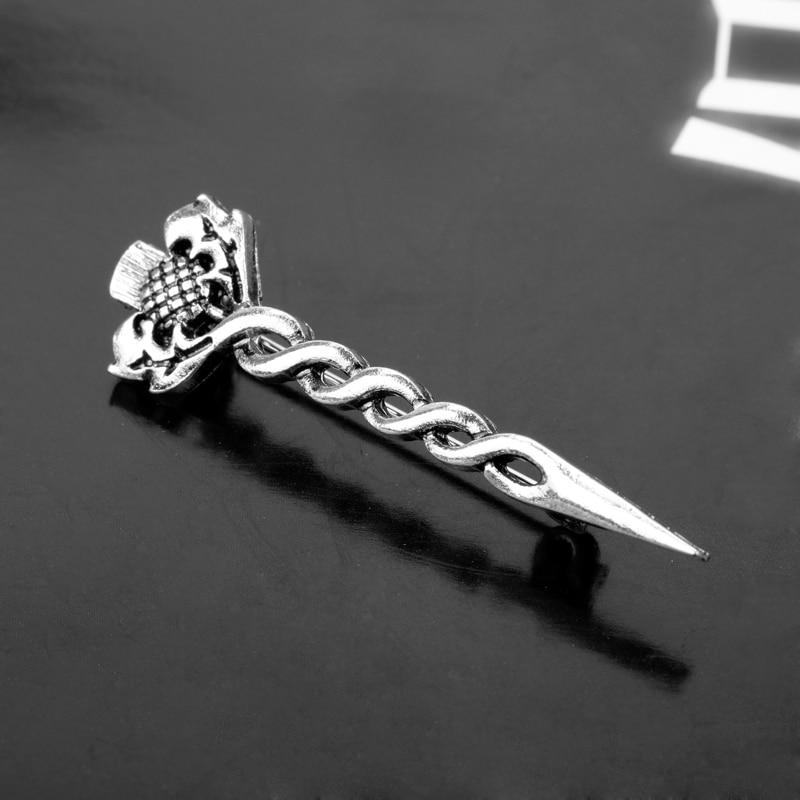 Mqcheng خمر الشوك سلتيك عقدة نقبة دبوس بروش TV أوتلاندر الاسكتلندي الوطنية زهرة الشوك دبابيس النساء مجوهرات