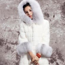 MSAISS зимнее новое пальто с искусственным лисьим мехом роскошное женское длинное пальто из искусственного меха для женщин Casaco Feminino