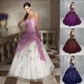 China barato vestido de baile vestidos Quinceanera para 15 anos Formal bordados andar de comprimento vestidos de Debutante transporte rápido