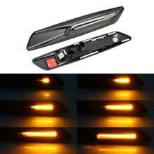 2 piezas agua LED guardabarros lado marcador luz ámbar de señal de vuelta de luz lámpara para E60 E61 E81 E82 E87 e88 E90 E91 E92 E93 X1 E84