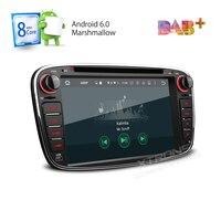 Восьмиядерный 32 г Встроенная память 2 г Оперативная память Android 6 Стерео GPS FIT Ford Focus Mondeo Tourneo Transit s -max Galaxy 4 К видео 4 г TPMS dab + Радио