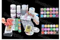 New Nail Art Kit Set Acrylic Powder Liquid Primer UV Dust Stickers Brush