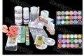 Nuevo Kit Nail Art Set Polvo de Acrílico Líquido Primer UV Polvo Pegatinas Brush