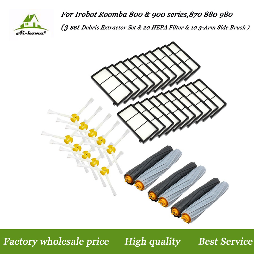 3-Armed Replacement Side Brush for iRobot Roomba 800//900 Series 880 870 980