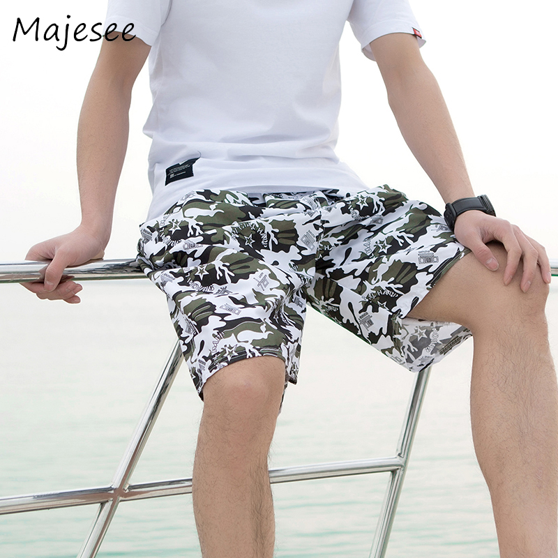 Summer Mens Quick-dry   Short   Men   Board   Beach   Shorts   Breathable New Fashion Printed Elastic Waist Thin Various Colors Loose Trendy