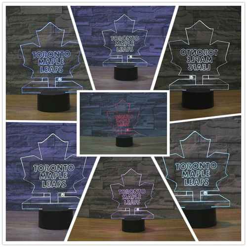 Nhl Ice Hockey Toronto Maple Leafs Led Neon Light Sign Home Decor Crafts 7colors Changing Night