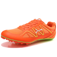 Athletic Men Spikes Sneakers Track & Field Shoes Breathable Light Run Trainers Outdoor Sport Shoes Teenager Sports Competition
