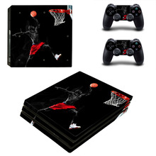 Air Man:Jordan Vinyl Decals PS4 PRO Skins Kit for Playstation 4 Console and 2 Controller Sticker Full Cover Protective