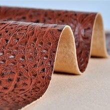 1pcs = 45CM* 136cm PU crocodile pattern leather fabric soft sofa fabric imitation leather hand diy hard package