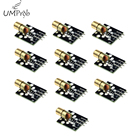10pcs/lot KY-008 3pin 650nm Red Laser Transmitter Dot Diode Copper Head Module for arduino DIY Kit KY008