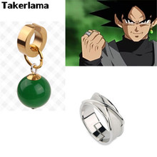 Takerlama Dragonball Super Dragon Ball Vegetto Potara Earring Black Son Goku Zamasu Time Ring Cosplay Props Limited Collection