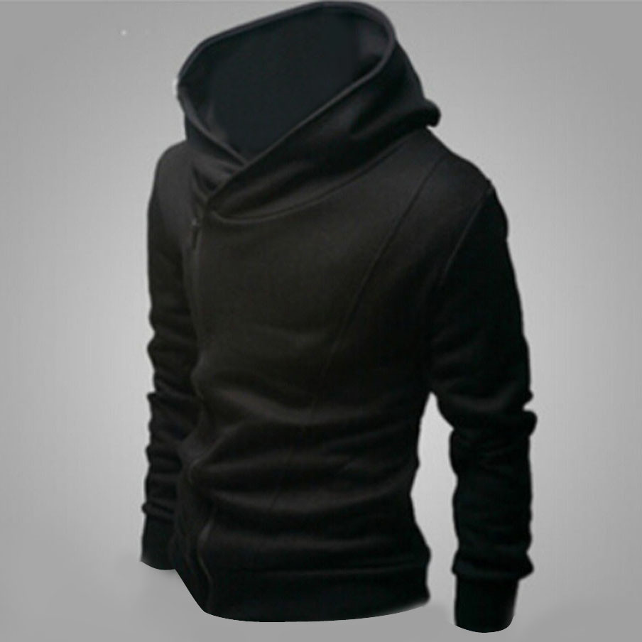 Men/'s Fold Long Sleeve Cardigan Hoodies Casual Fashion Coat Slim Fit Jacket Size