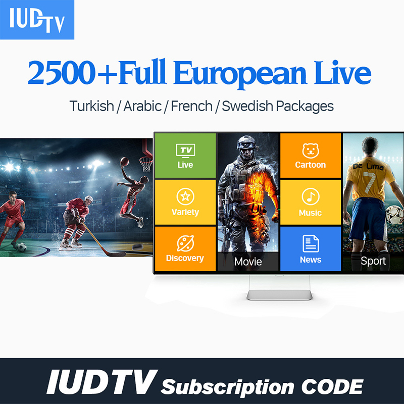 IPTV 1 Year Subscription French Spain Italia Online HD 4K TV 3500+Channels Support Android M3U Enigma2 Mag250 SUBTV IUDTV QHDTV