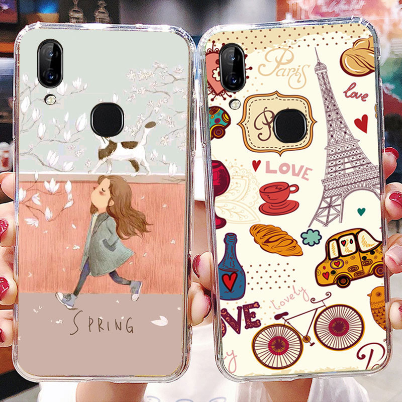 LEN1567_1_JONSNOW Soft Case For Lenovo A5 Painted Pudding Anti Skid Phone Cover for Lenovo K5 Pro S5 Pro Capa Fundas