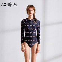 AONIHUA Womens Swimsuit One Piece 2018 Fashion Printing Padded Bikini Women Bathing Suit