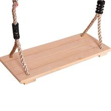Размахивая подвесной деревянный гамак кресло для детей потенциала 150kgs крытый открытый взрослый качели стул березы