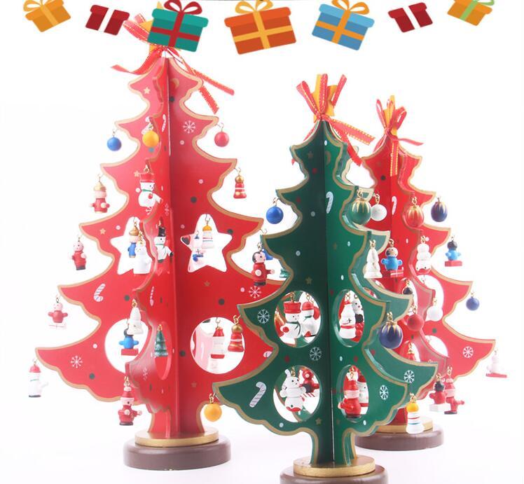 Decorazioni Natalizie Per Ufficio.Decorazioni Natalizie Albero Di Natale Tridimensionale In Legno Casse Da Ufficio In Legno Decorazione Per Ufficio Regali S14
