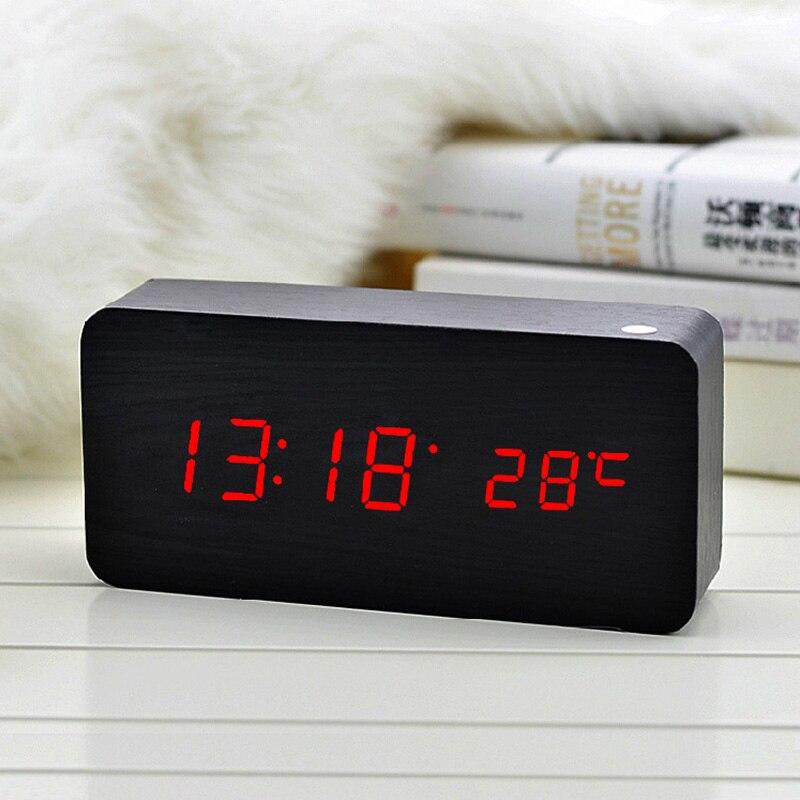Modern LED Alarm Clock Despertador Temperature Sounds Control Electronic LED Display DesktopDigital Table Clocks