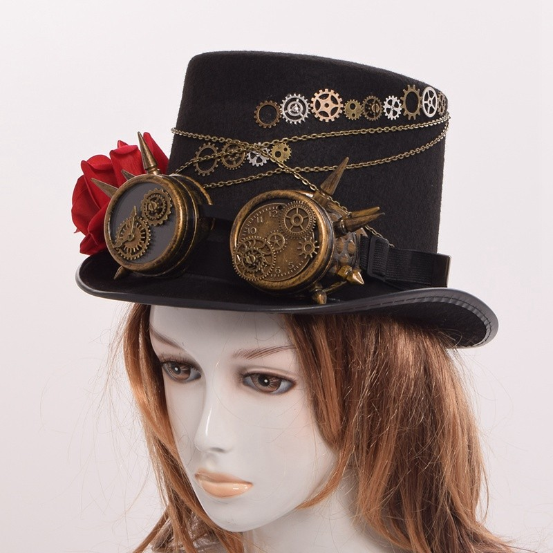 steampunk top hat for women