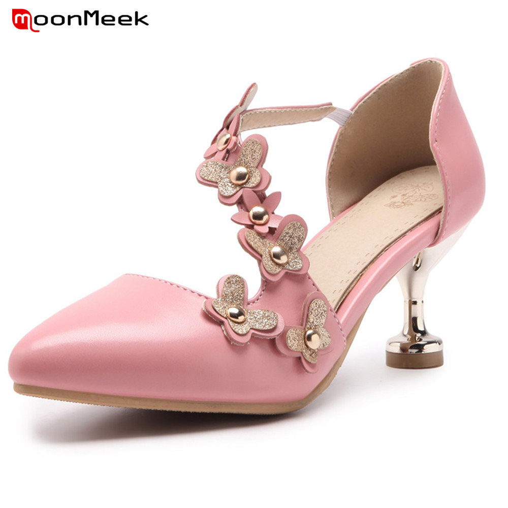 Moonmeek New Arrive Spring Autumn Sexy Ladies Shoes High Heels With